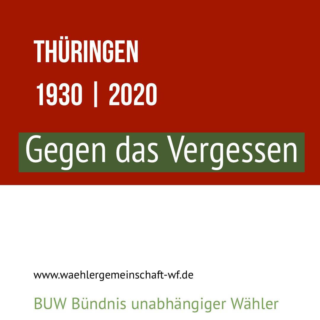 Gesicht zeigen gegen Rechts für die Bürgerinnen und Bürger des Landes Thüringen.