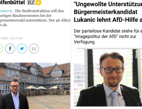 """Statement der BUW zur """"Unterstützung"""" der AfD für den Kandidaten Lukanic"""